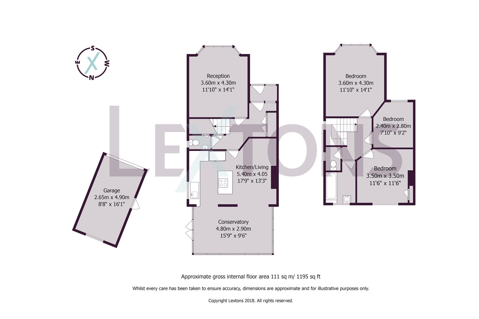 Floorplans For Fallowfield Close, Hove