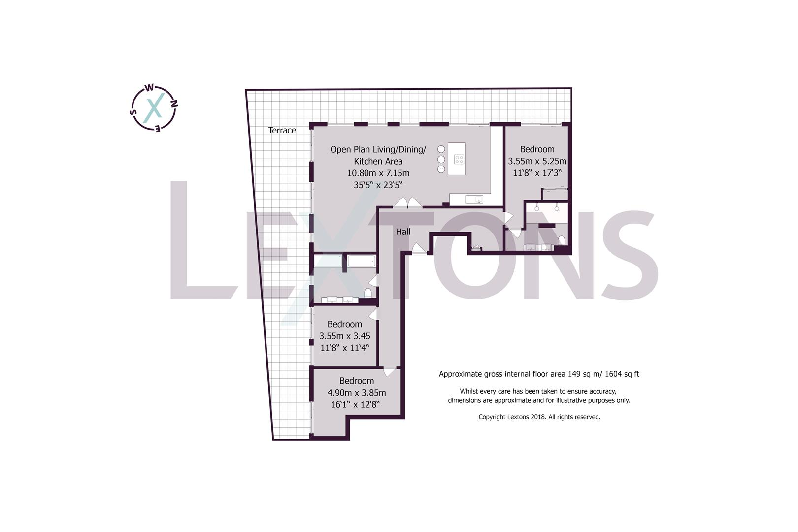 Floorplans For Dorset Gardens, Brighton