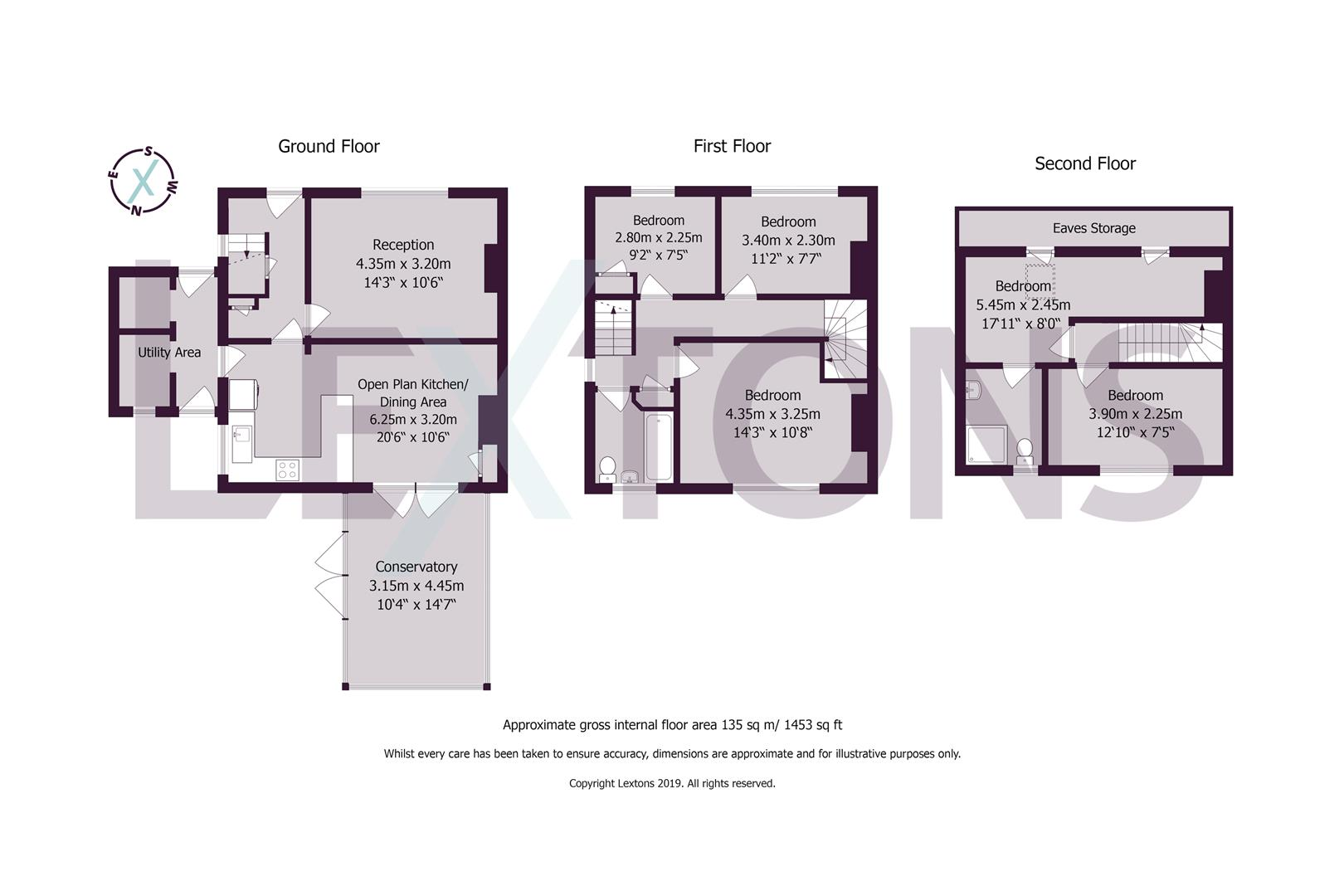 Floorplans For Denton Drive, Brighton