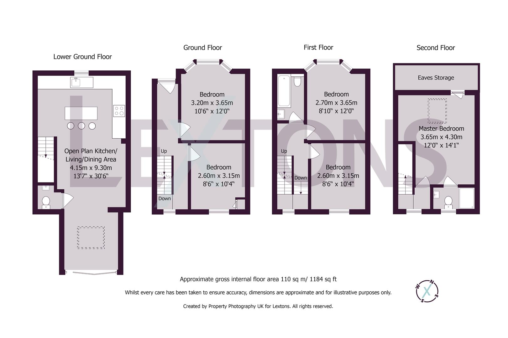 Floorplans For Park Crescent Road, Brighton