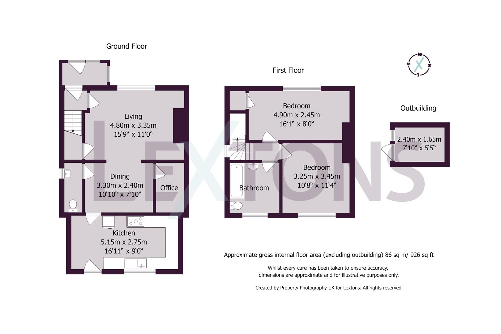 Floorplans For Chester Avenue, Worthing