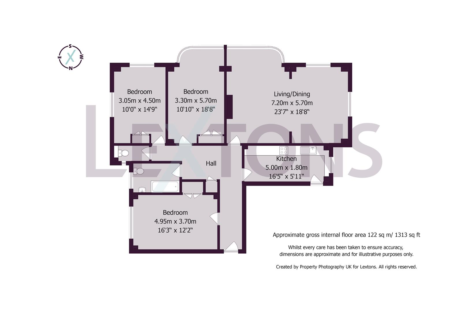 Floorplans For Furze Hill, Hove