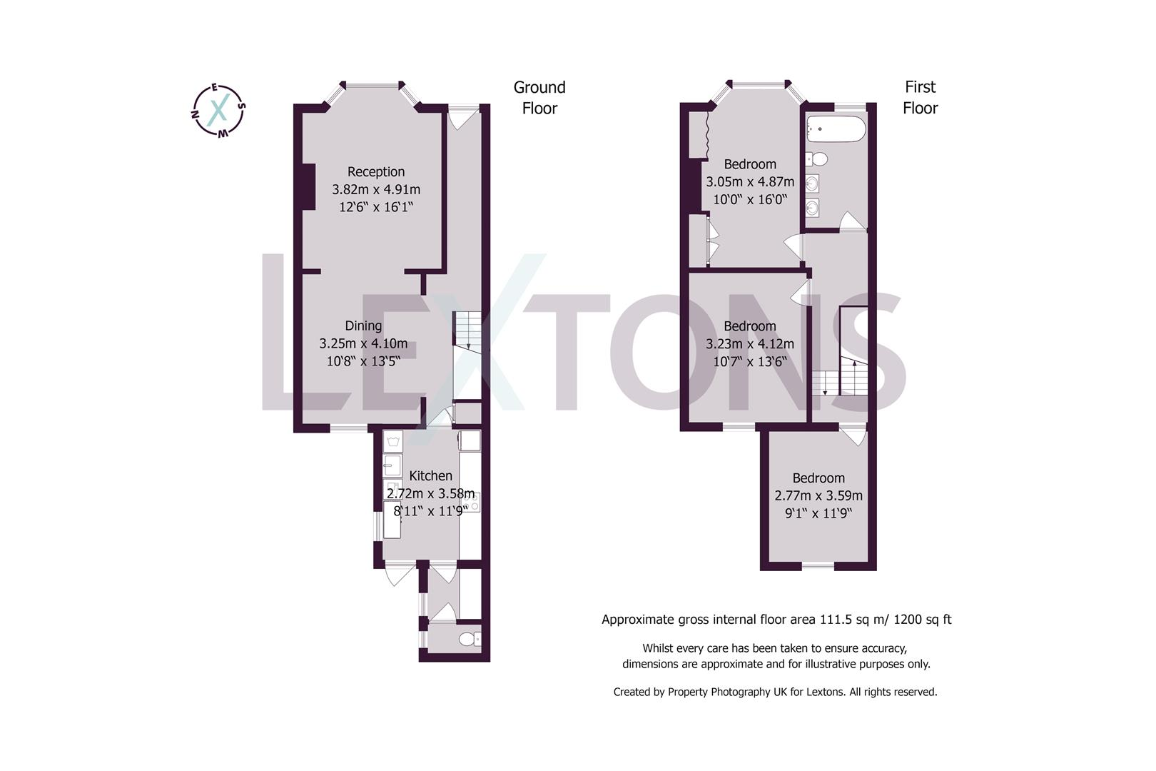 Floorplans For Brooker Street, Hove