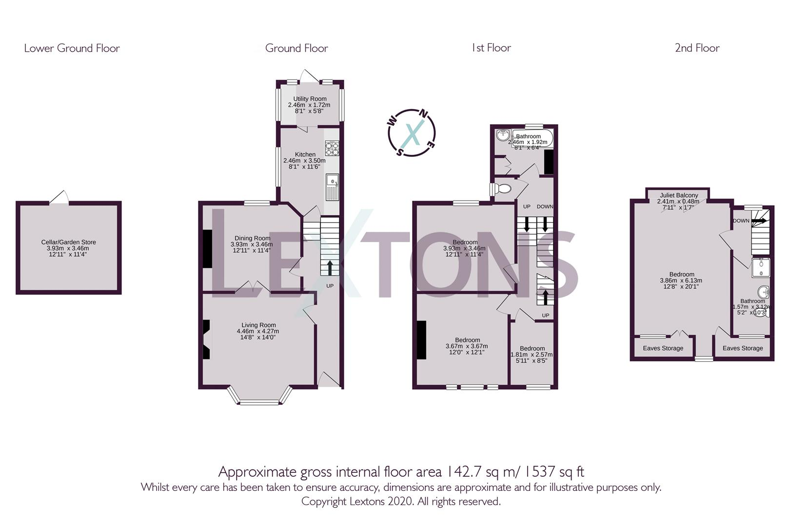 Floorplans For Upper Wellington Road, Brighton