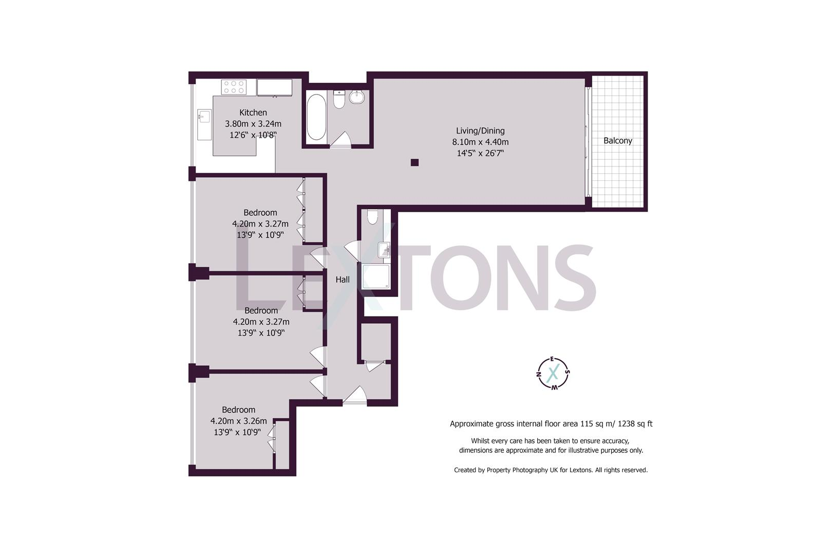 Floorplans For Queens Gardens, Hove