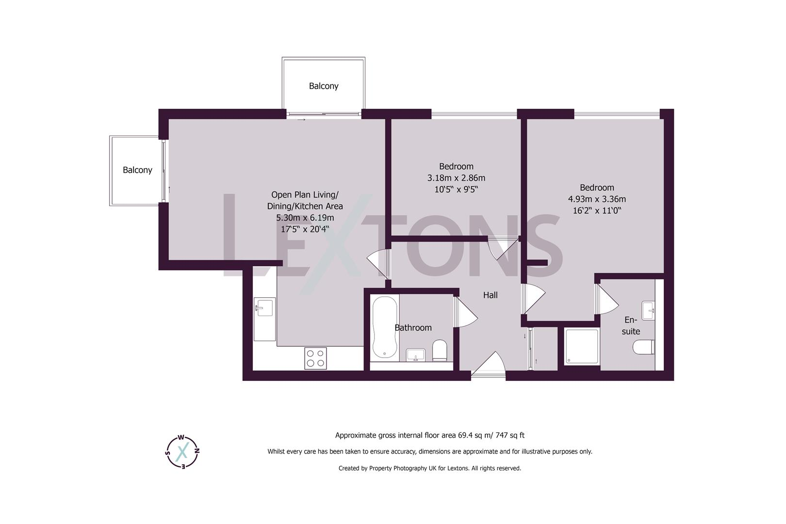 Floorplans For Portland Road, Hove