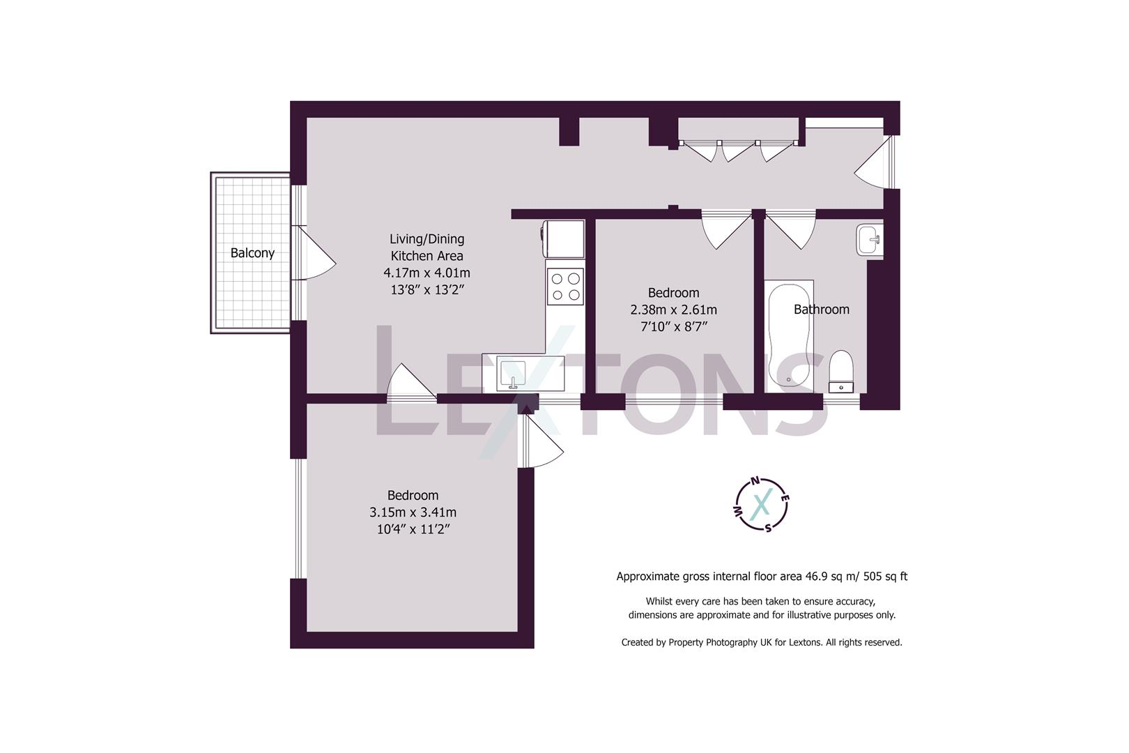 Floorplans For Wilbury Gardens, Hove