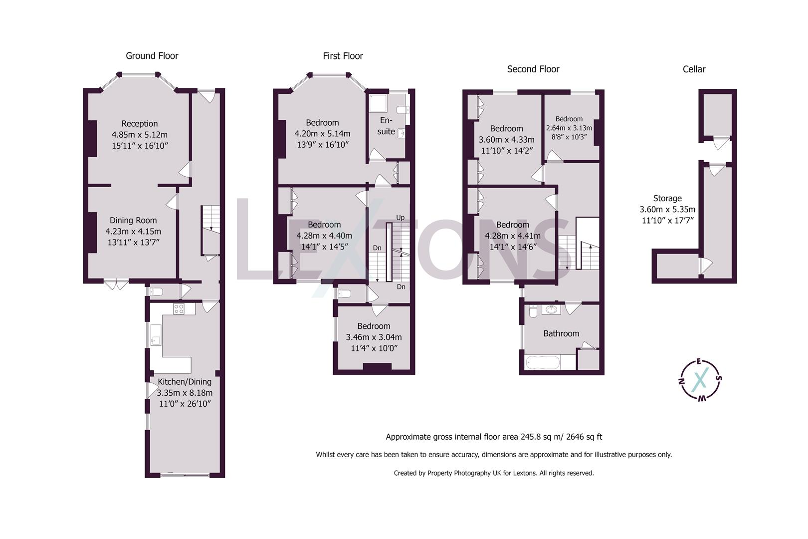 Floorplans For Westbourne Villas, Hove
